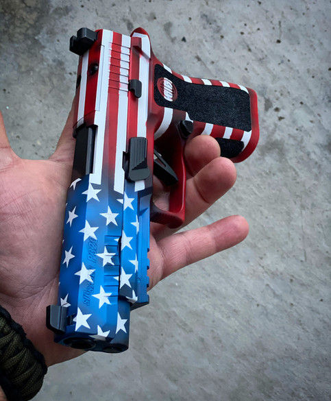 Merica with Straight Stripes and Black Grip Panels
