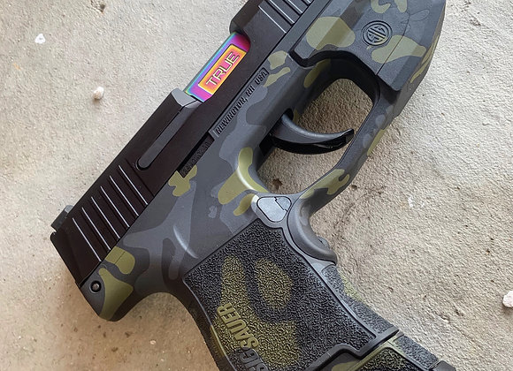 Custom Order- Sig P365 Black Multicam Grip Module