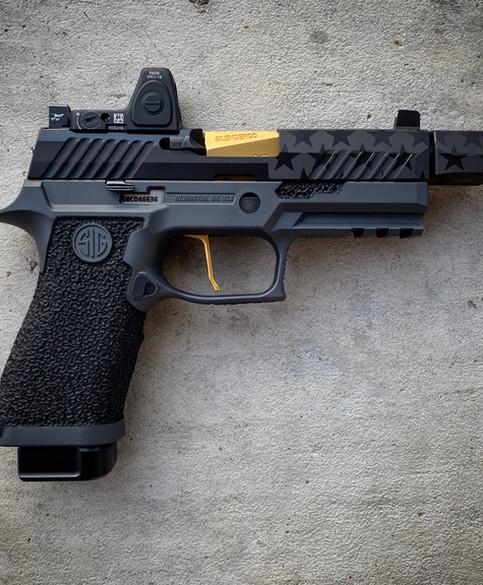 Black on Black Stars n Stripes with Sniper Grey Frame