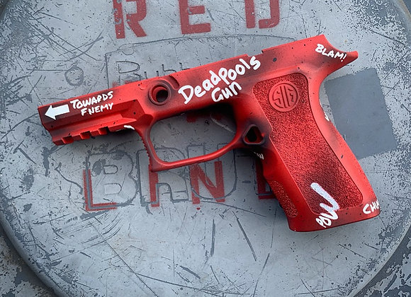 DeadPool Themed Sig Sauer P320 X-Compact Grip