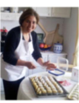 Paola Elias of Bel Hannah daily baked, hand made Maamoul semolina cookies