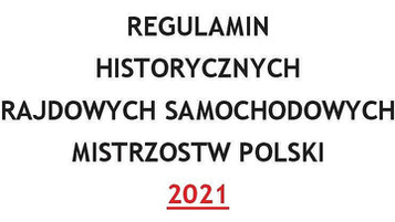 REGULAMIN HRSMP 2021