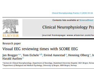 Visual EEG reviewing times with SCORE EEG