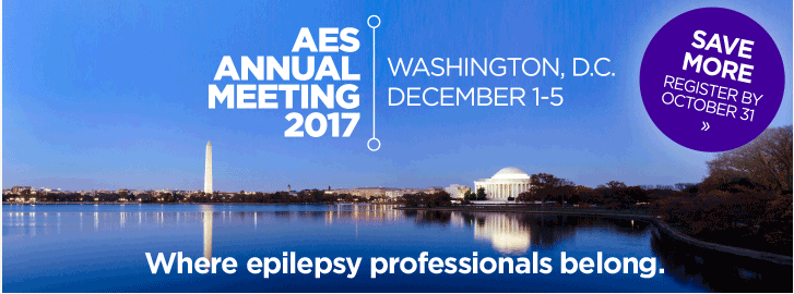 Meet us at American Epilepsy Society's annual meeting in Washington 1-5th December