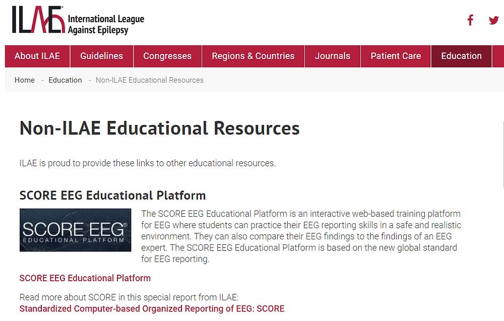 ILAE SCORE EEG Educational Platform