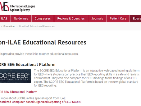 SCORE EEG Educational Platform recommended by IFCN and ILAE