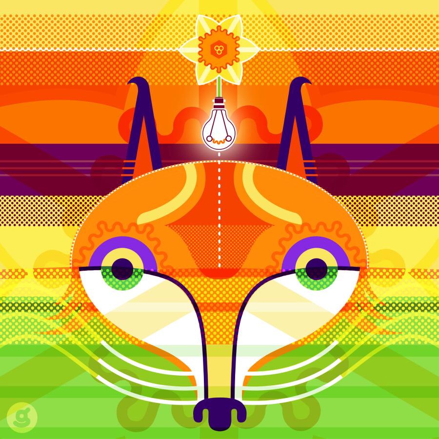 Thinking Fox