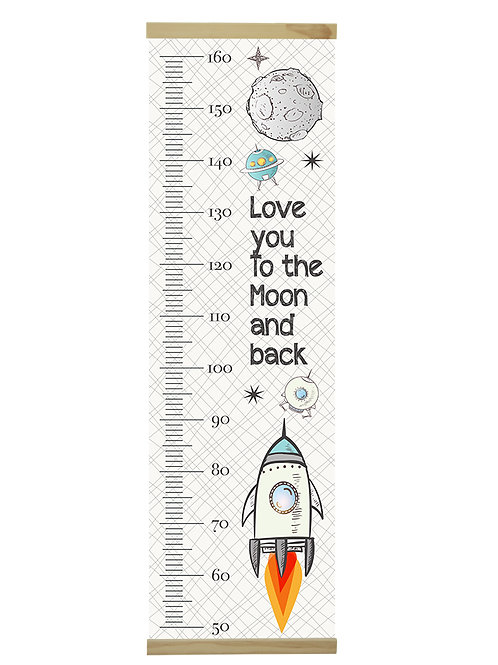 Love you to the moon growth chart