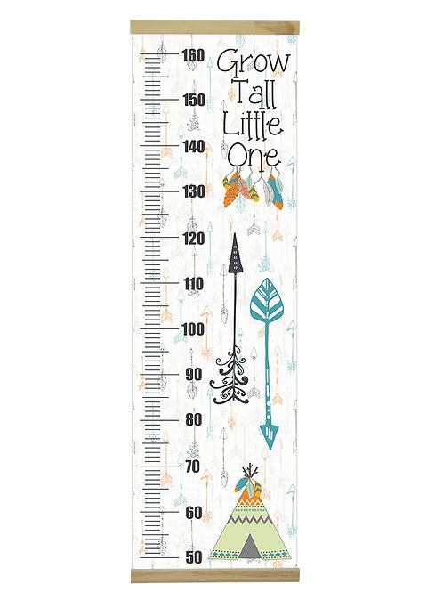 Grow tall teal growth chart