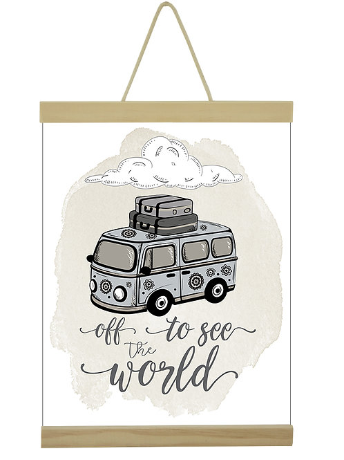 Off To See The World VW Girl