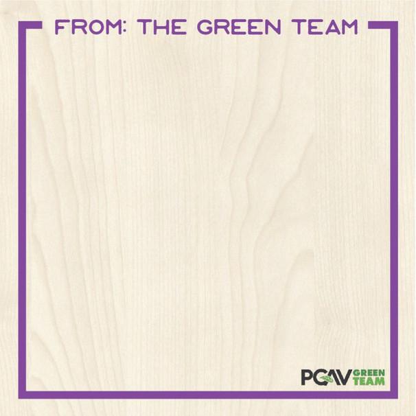 PGAV GREEN TEAM SIGNAGE