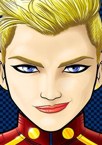 Captain Marvel HeadShot