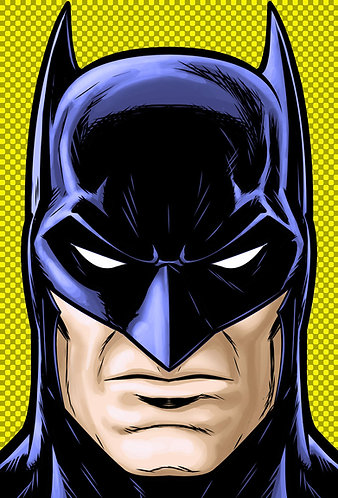 Batman blue HeadShot