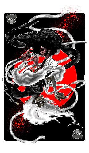 AFRO FLIP Afro Samurai and Ninja ninja