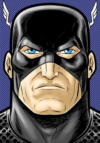 US agent Captain America HeadShot