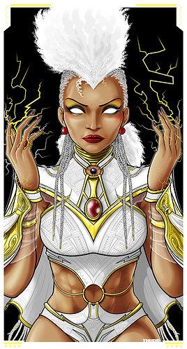Mohawk Storm White Costume Icon