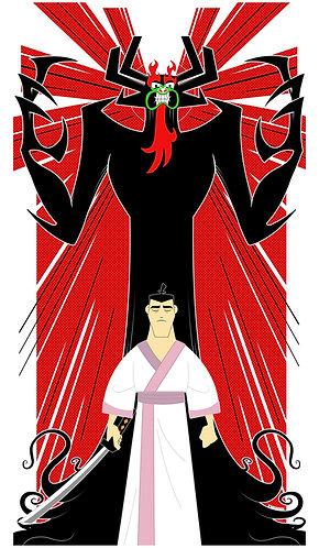 Samurai Jack 14x24 Textured Poster
