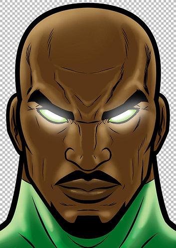John Stewart Green Lantern HeadShot