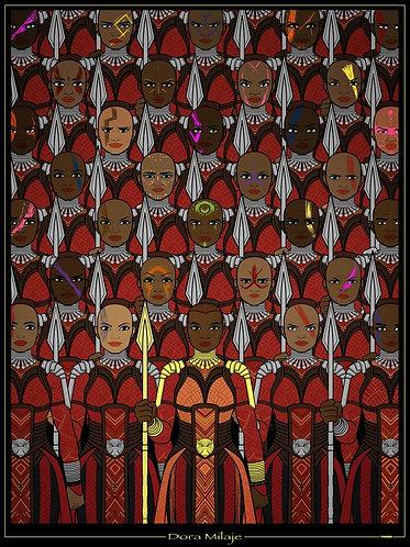 Dora Milaje 18x24 Poster