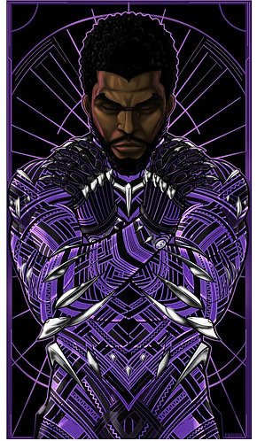 Black Panther Icon Purple Standard