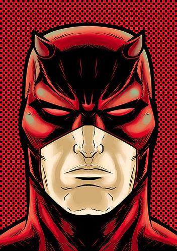 Dare Devil Comic HeadShot
