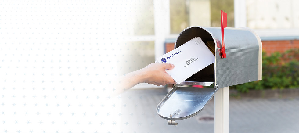 hand pulling mail out of a mailbox