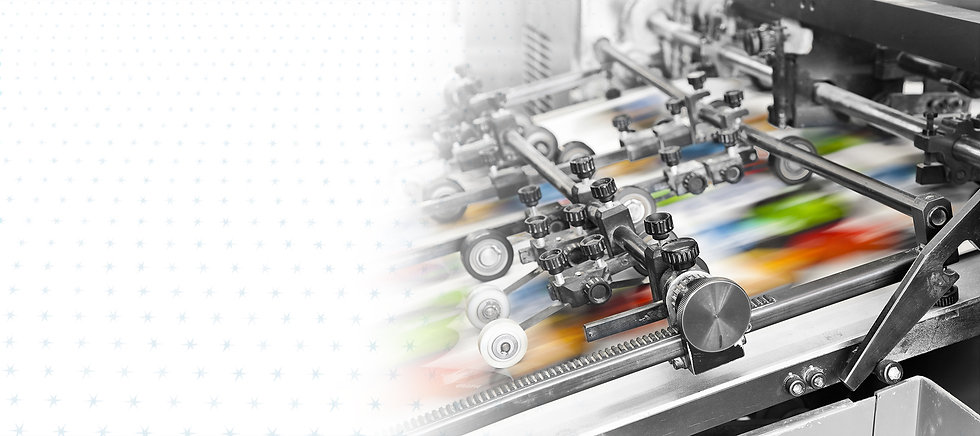 a web printer printing on paper