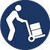 icon of warehouse hand truck
