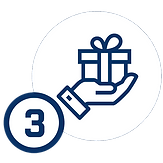 icon of hand with small gift