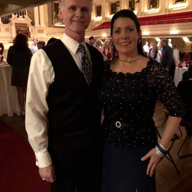 Kelly and Paul waltz
