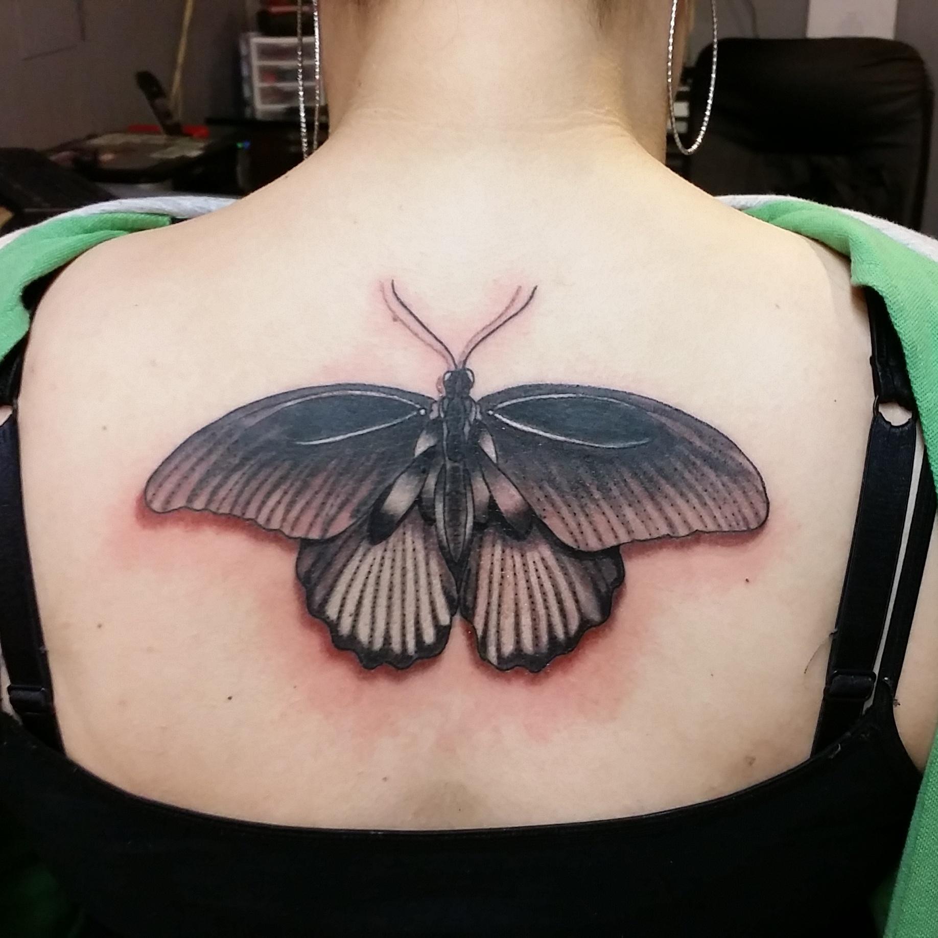 Custom Black Butterfly