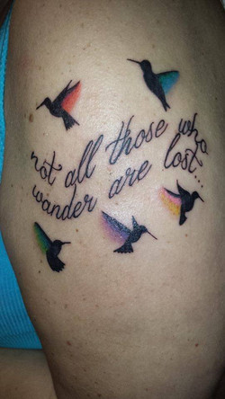 Hummingbird Quote Tattoo