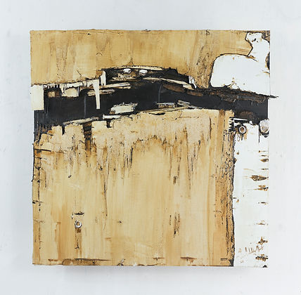 Cracked Hull 2, oil and wood on panel, 6