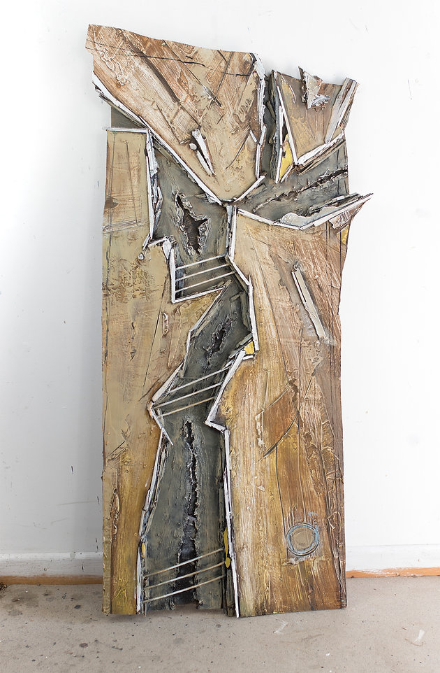 Weathered Wood, oil and wood on panel, 1