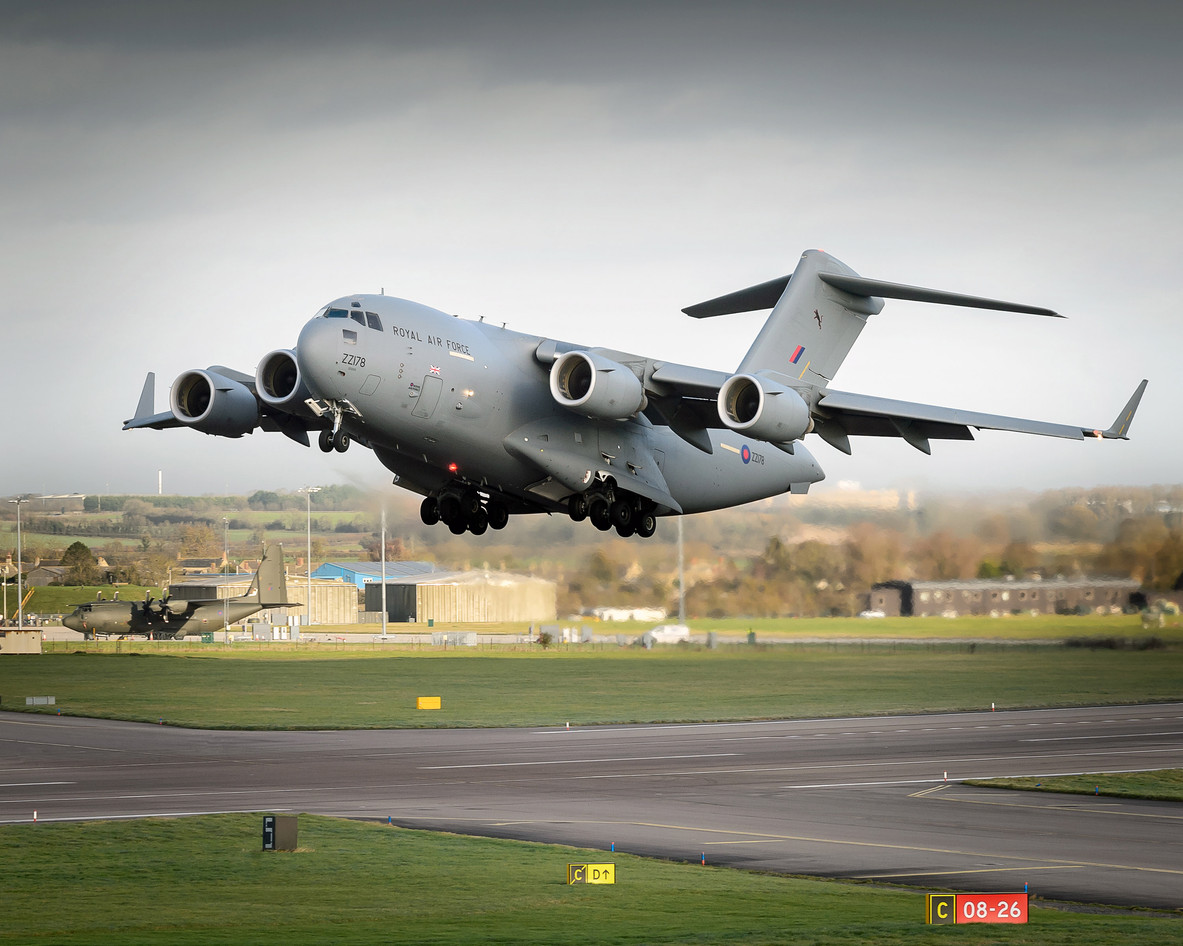 C17_Transport_Aircraft_Taking_Off_from_R