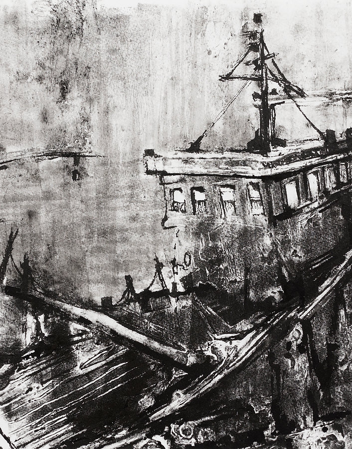 Haulage Barge A. (Port Talbot Dock)