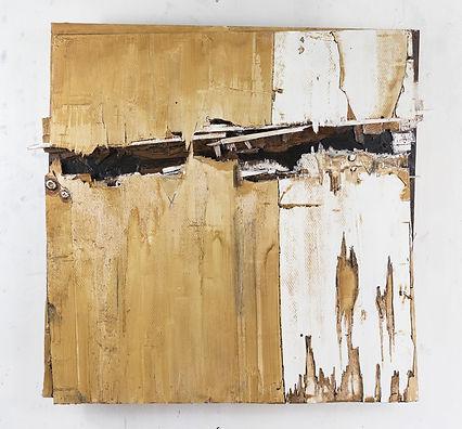 Cracked 1, oil on panel, 69x6cm unframed