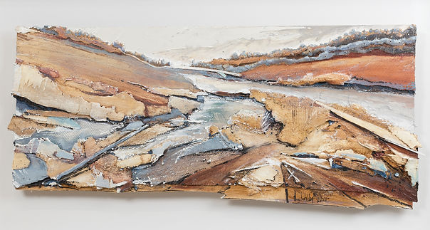 UNFRAMED PSD Copper Stained Stream1, Oil