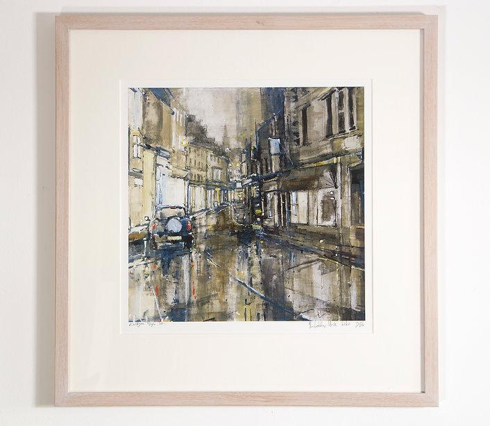 Cardigan High Street, Nocturne / Golau Strydd Aberteifi, Limited Edition Print