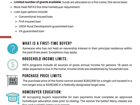 First Time Homeowner Grants Available