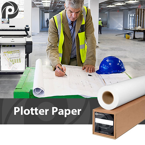 80gsm Plain Plotter Paper | 841mm | 90m