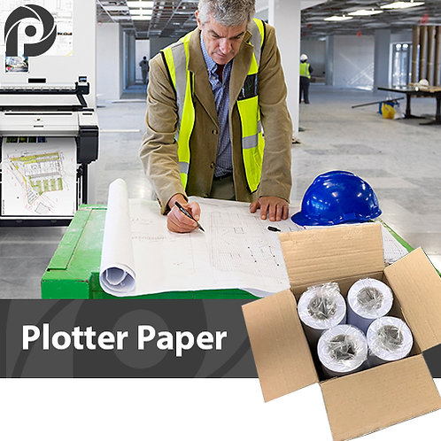 80gsm Plain Plotter Paper | 841mm | 4 x 50m Rolls