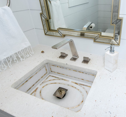 Detail of Mother-of-Pearl Sink