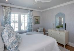Sky Blue Plam Tree Bedroom