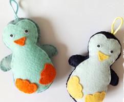 Pingouins en feutrine