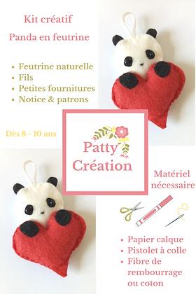 Kit créatif panda romantique