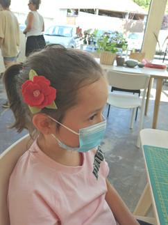 Fleur feutrine bohème Atelier créatif enfants anniversaires à domicile Pau Patty Créa.jpg