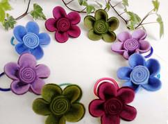 fleurs en relief
