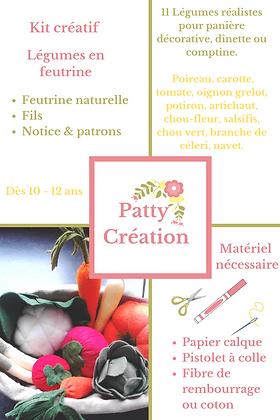Kit créatif panier légumes