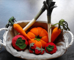 Légumes en feutrine